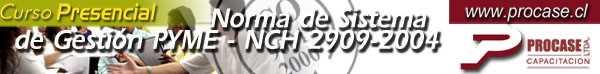 Norma de Sistemas de Gestión PYME - NCH 2909