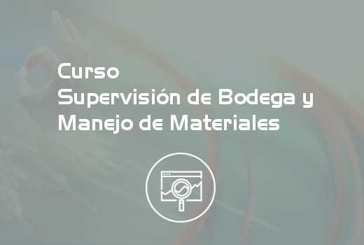 Supervisión de Bodega y Manejo de Materiales